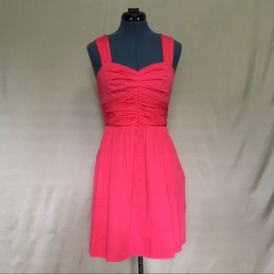 Express Bright Coral Dress